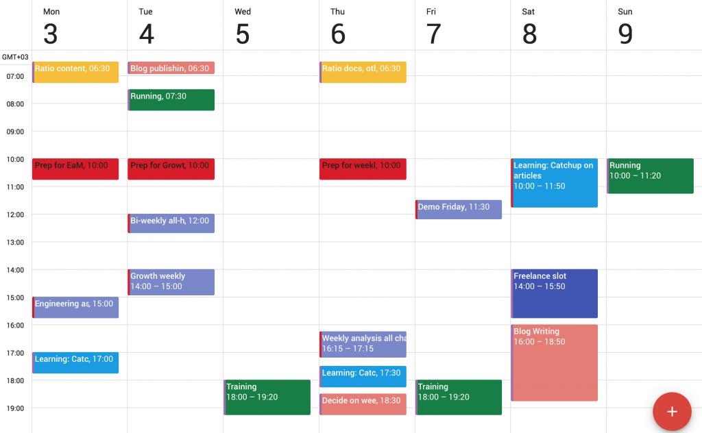 calendar sample