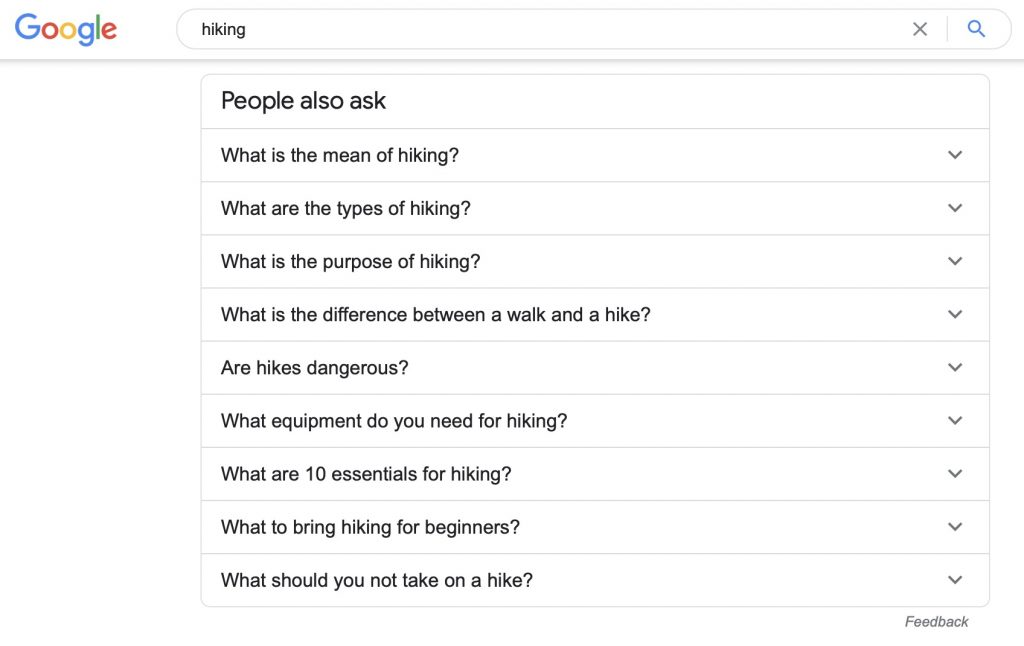topic research google people also ask