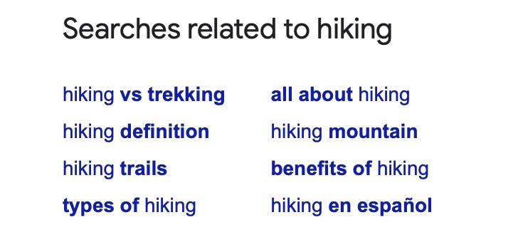 topic research google related searches