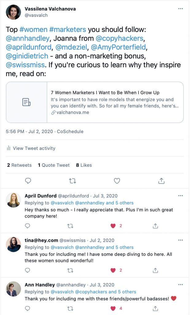 tweet mentions people